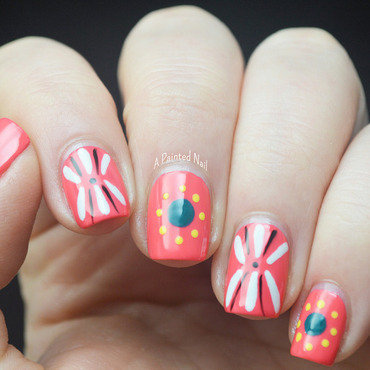 Folk Art Inspired Spring Nails nail art by Bridget Reynolds