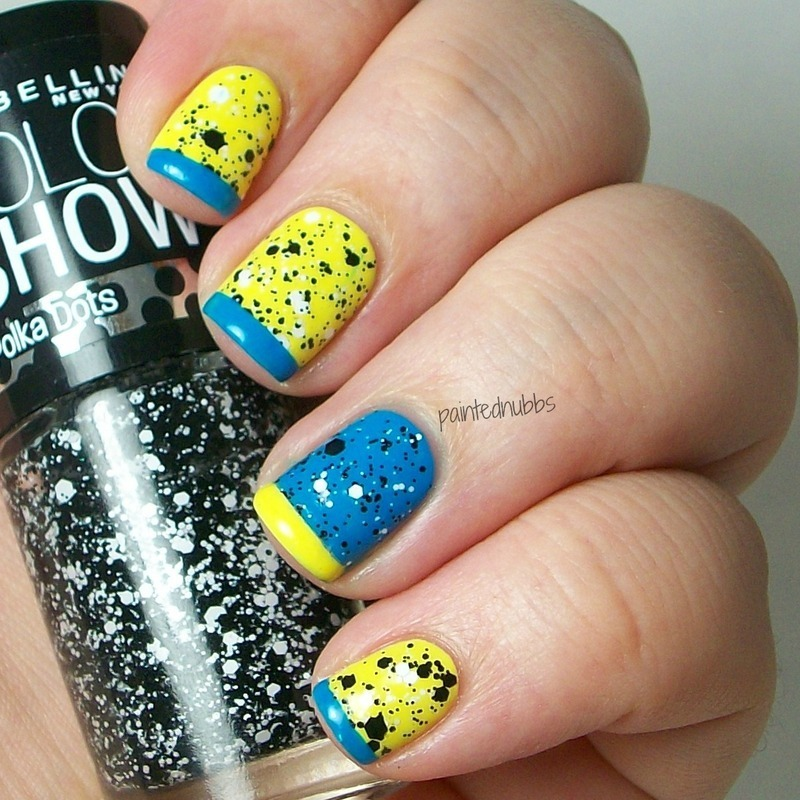 Funky French nail art by Ashlee - Nailpolis: Museum of Nail Art