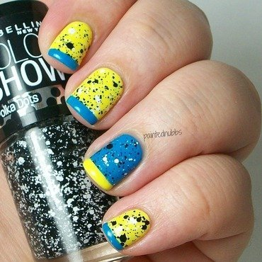 Funky French nail art by Ashlee