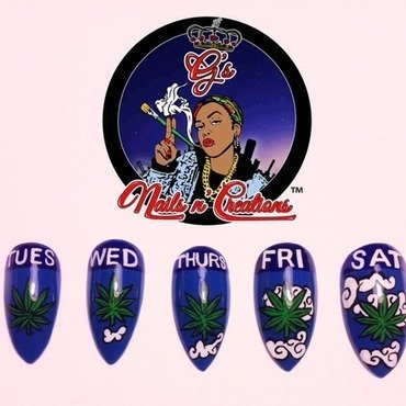 Cloudy Forecast nail art by G's Nails N' Creations