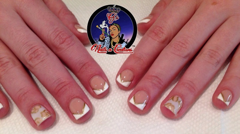 French Twist nail art by G's Nails N' Creations