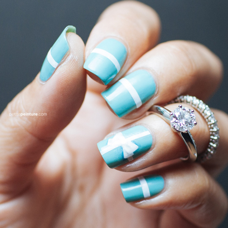 Tiffany & Co. Inspired nail art by Petite Peinture