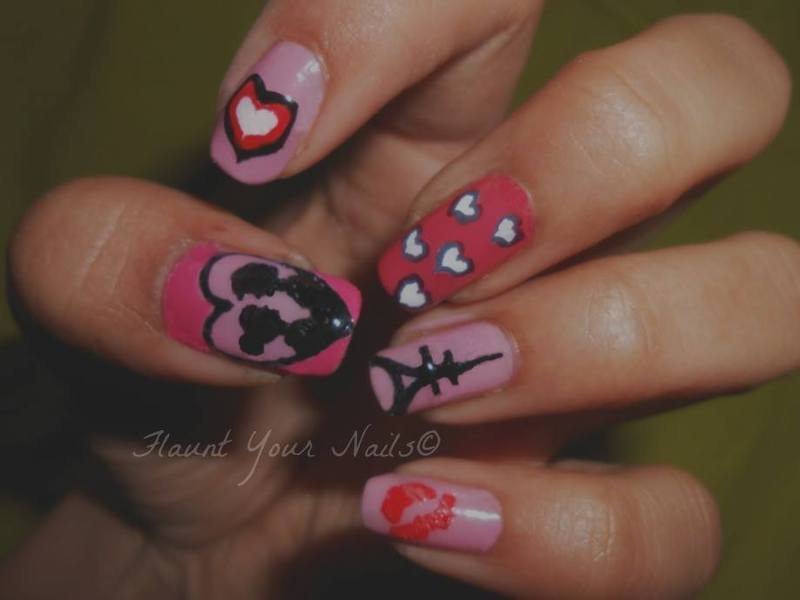Paris love nail art by Vidula Kulkarni