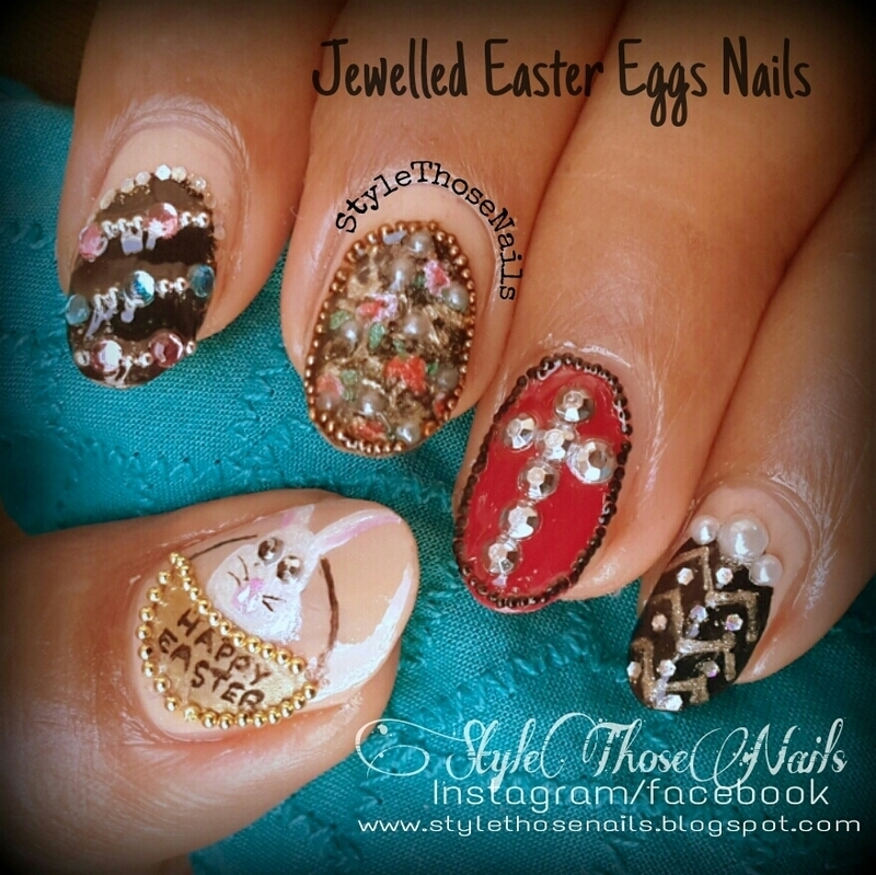 Jewelled Easter Eggs Manicure nail art by Anita Style Those Nails ...