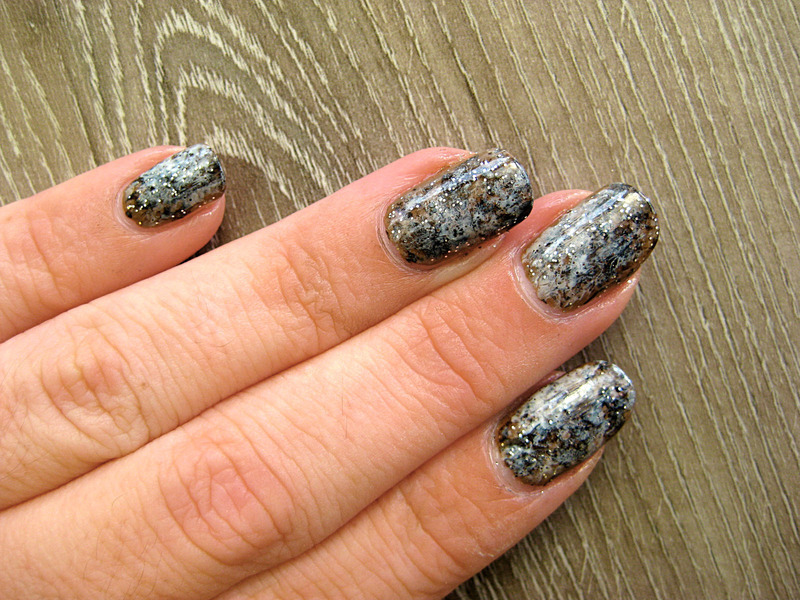 Stone effect nail art by Vicky