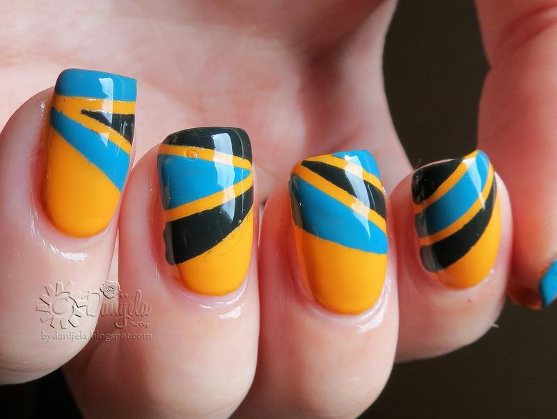 Retro 70`s nail art nail art by bydanijela