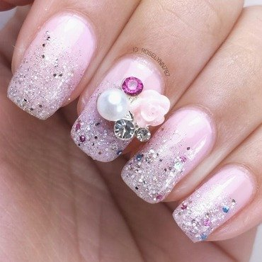Sparkle Girl nail art by Rose Mercedes
