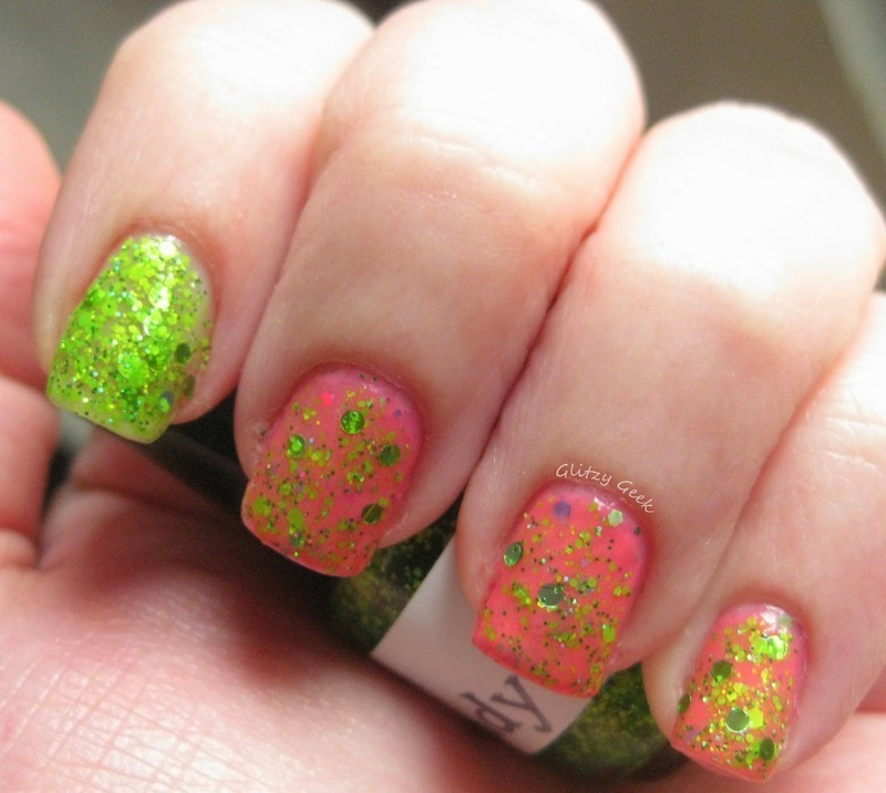 The Lady Varnishes Have Some Candy and The Lady Varnishes Sour Bill Swatch by Andi