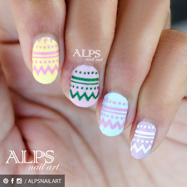Easter Nails by Alpsnailart nail art by Alpsnailart