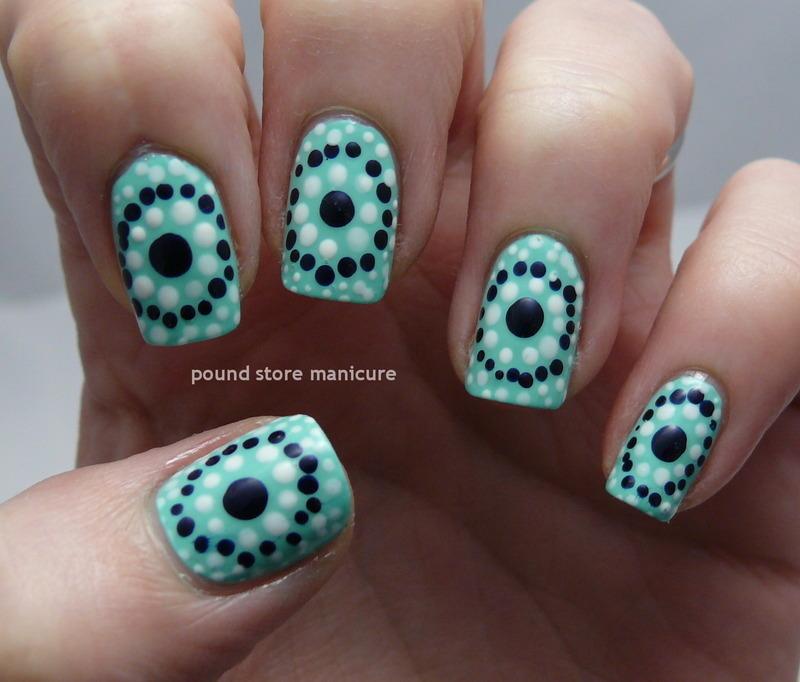 Going Dotty nail art by Pound Store Manicure