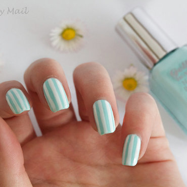 Spring Stripes nail art by The Naily Mail