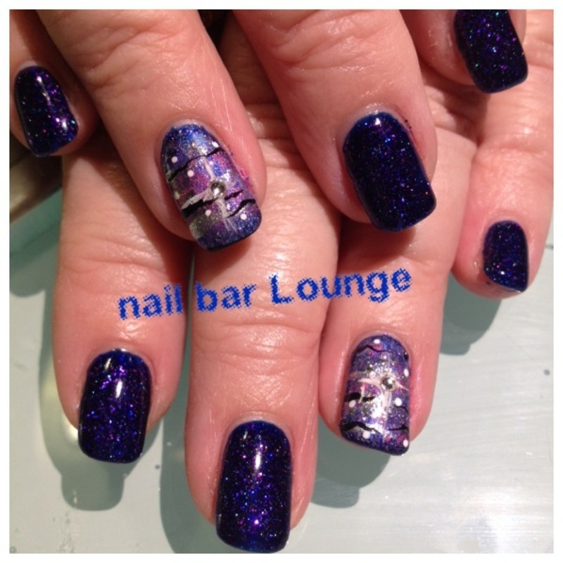 Space Cadet nail art by Victoria Zegarelli nail bar Lounge