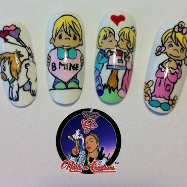 Precious Moments nail art by G's Nails N' Creations