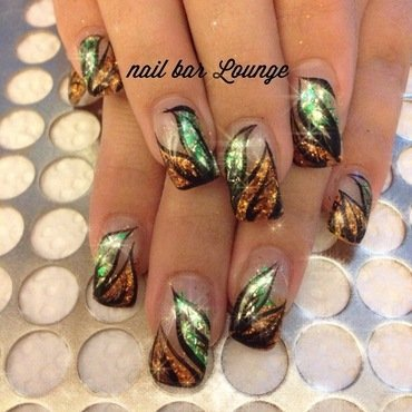 Earth Blooms nail art by Victoria Zegarelli nail bar Lounge