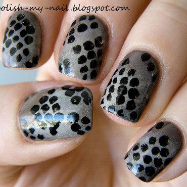 Snake skin nail art 1 thumb370f