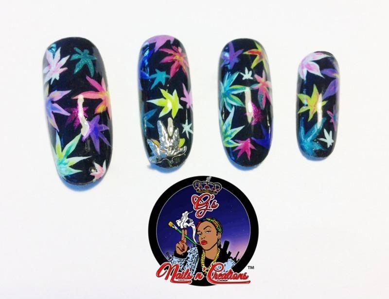 420 nail art by G's Nails N' Creations