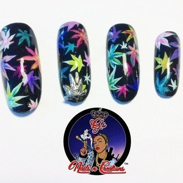 420 nail art by G's Nails N' Creations