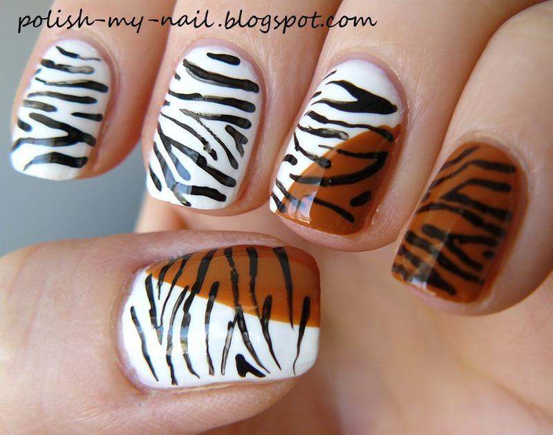 Two Tigers Nail Art By Ewlyn Nailpolis Museum Of Nail Art