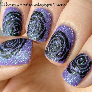 Sand polish black roses matte 2 thumb370f