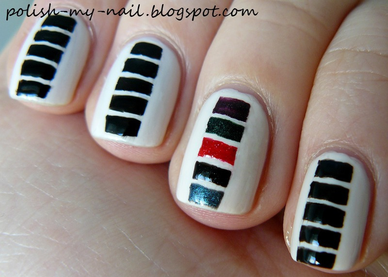 Easy stripes nail art by Ewlyn
