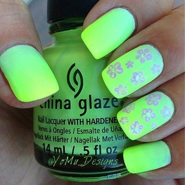 Neon Spring nail art by JMura_Designs