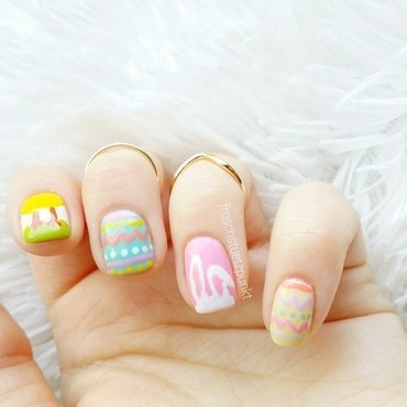 Easter Design nail art by froschstuetzpunkt