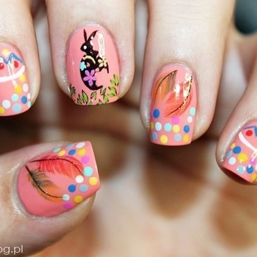 Easter Bunny !  nail art by Amethyst