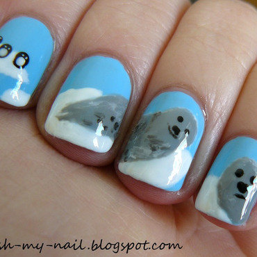 Arctica nail art by Ewlyn