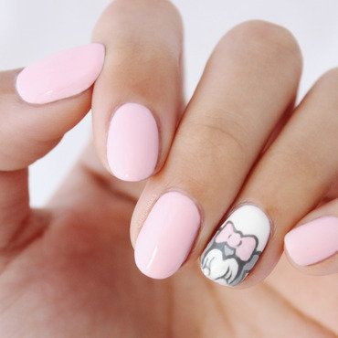 Pink Minnie Nails nail art by Jasmine (Californails)