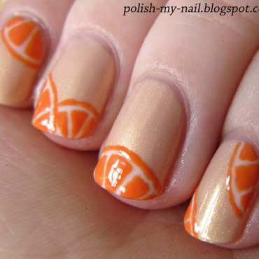 Avon sweet pea dream orange nail art 3 thumb370f