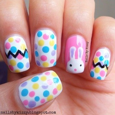 Easter Nails! nail art by Kizzy