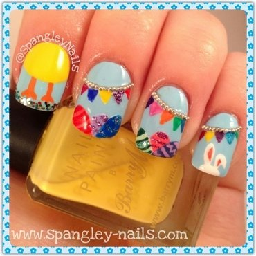 Happy Easter! nail art by Nicole Louise