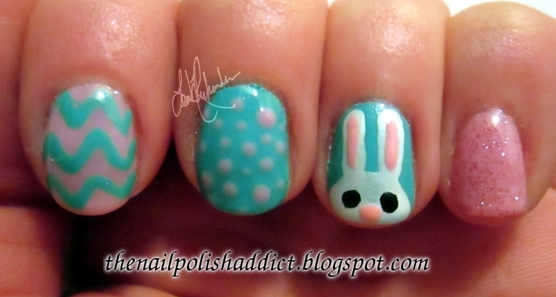 Easter Bunny Nails nail art by Leah