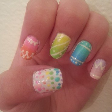Pastel Easter Eggs nail art by KiboSanti