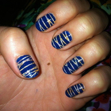 Whimsical stripes nail art by dazyndara
