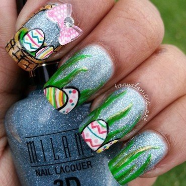 Easter Egg Hunt nail art by Tonya