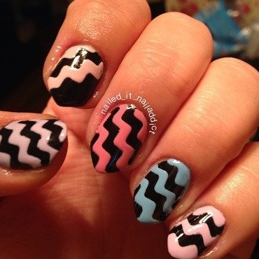 Chevrons nail art by Sheree Dean