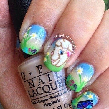 Easter nails nail art by Sheree Dean