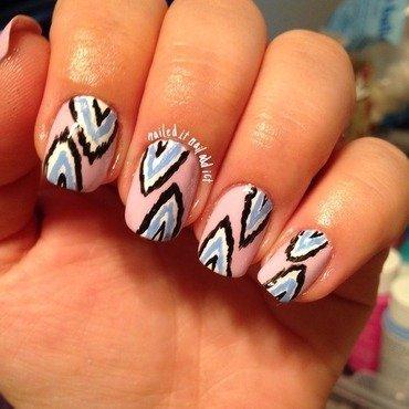 Ikat nails nail art by Sheree Dean