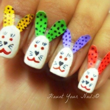 Easter egg bunny nail art by Vidula Kulkarni
