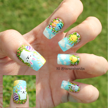 Chicky-doo nail art by Tara Rahardja