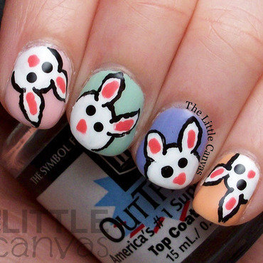 Easter bunny nail art 4 thumb370f