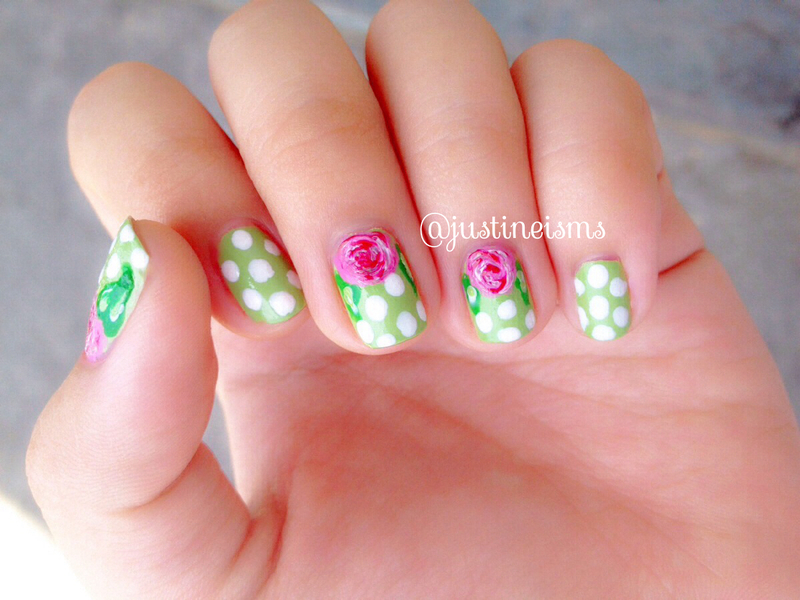 Fresh Greens nail art by ℐustine