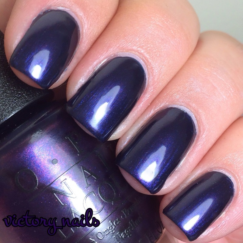 OPI Russian Navy Swatch By Nicole Nailpolis Museum Of