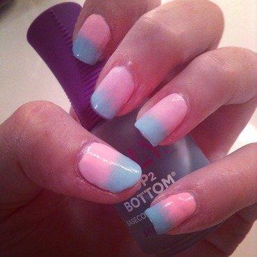 Pastel Gradient nail art by Olivia Schwab
