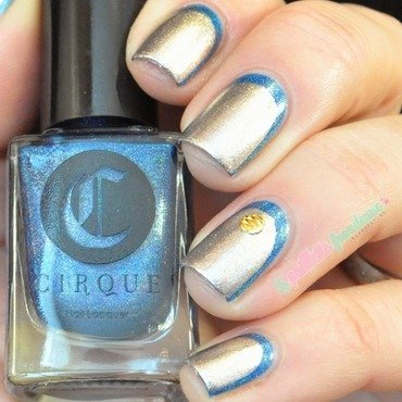 Blue and gold ruffian nail art by nathalie lapaillettefrondeuse
