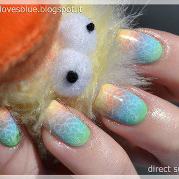 Easter Colours nail art by MiseryLovesBlue