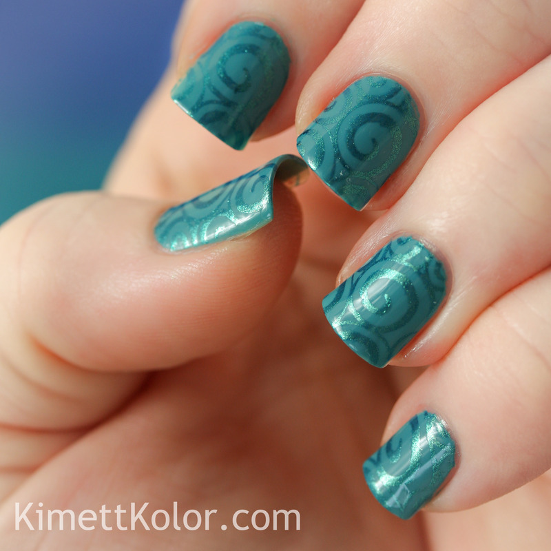 Honor of Oooh, Shinies! nail art by Kimett Kolor