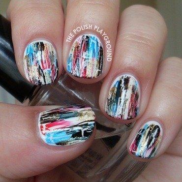 Shatter distressed nail art thumb370f