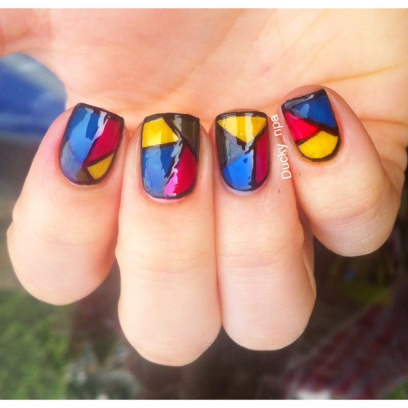 Stainglass Nails nail art by Ducky_npa (Lili)